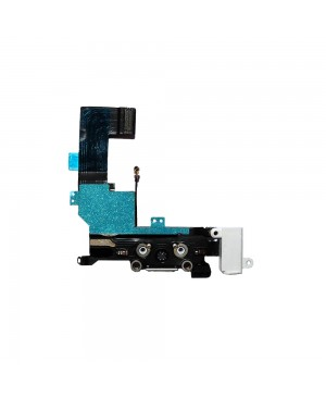 iPhone 5S Charging Port/Headphone Jack Flex Cable – White