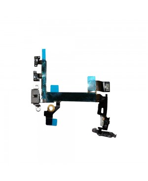 iPhone 5S Power Flex Cable with Volume/Vibrator Switch/Dual LED Flash/Mic Connectors