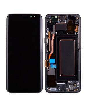 Galaxy S8 LCD Assembly With frame – Black Frame