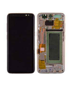 Galaxy S8 LCD Assembly With frame – Gold Frame