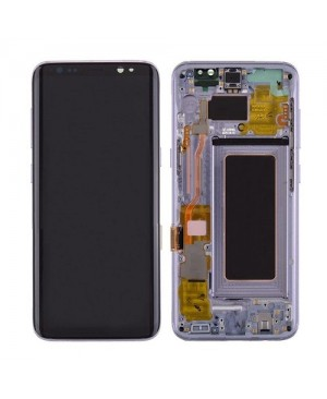 Galaxy S8 LCD Assembly With frame – Purple Frame