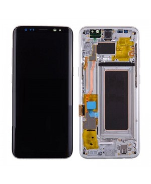 Galaxy S8 LCD Assembly With frame – Silver Frame