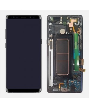 Note 8 LCD Assembly With frame – Black Frame