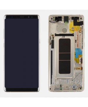 Note 8 LCD Assembly With frame – Gray Frame