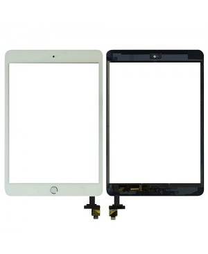 iPad Mini Digitizer with Home Button Assembly - White