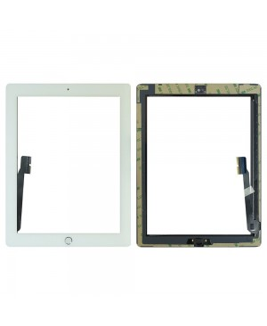iPad 4 Digitizer with Plain Home Button Assembly OEM Quality – White