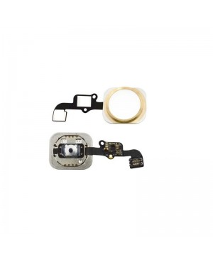 iPhone 6S Home Button Key with Flex Cable- Gold