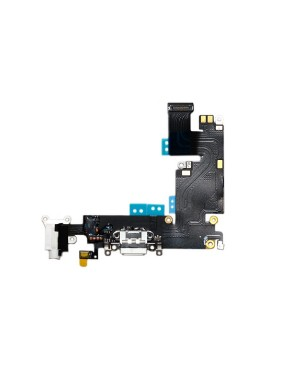iPhone 6 Plus (5.5″) Charging Port with Flex Cable/Headphone Jack & Mic – White