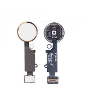 iPhone 7 Home Button Key with Flex Cable - Gold