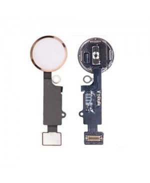 iPhone 7 Home Button Key with Flex Cable - Rose Gold